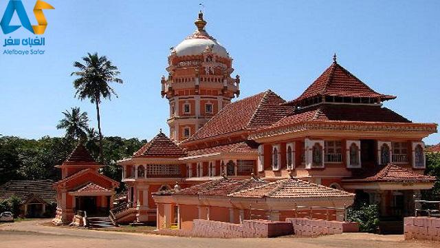 نمای بیرونی معبد شانتادورگ در گوا هندوستان