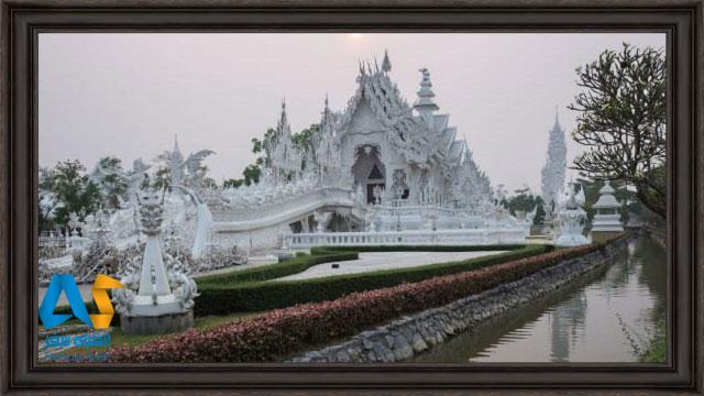 معبد وات رونگ معروف به معبد سفيد در چيانگ راي تايلند