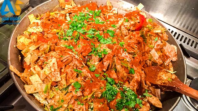 کوتو روتی غذای سریلانکا-الفبای سفر