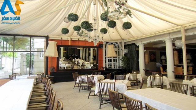 فضای داخلی رستوران ساحلی عمارت در پنانگ مالزی