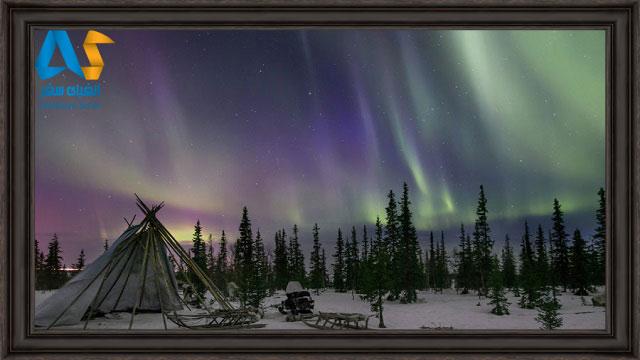 كمپ زدن گردشگران براي تماشاي شفق هاي قطبي