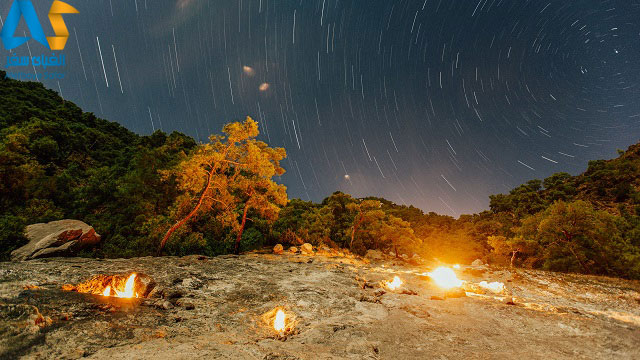 منطقه الیمپوس آنتالیا در شب