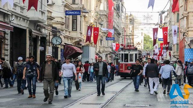 خیابان استقلال استانبول ترکیه