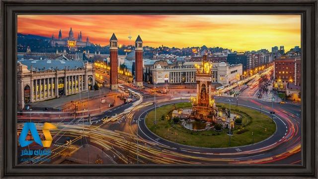 میدان اسپانیا زیباترین میدان شهر بارسلونا