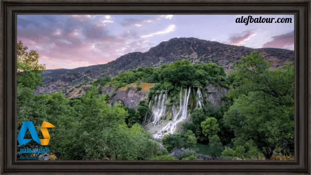 آبشار زیبای بیشه