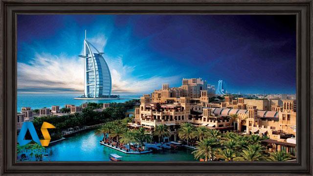 برج العرب و دبي قديم در يك تصوير