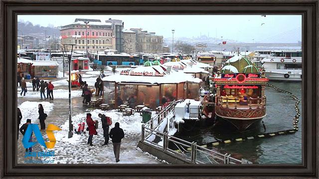 ميل غذاهاي گرم در سرماي استانبول