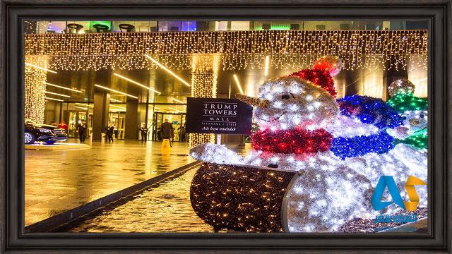 تزئينات در جشن كريسمس و آغاز ژانويه در استانبول
