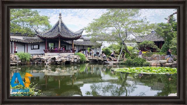 مکان هایی در وسط کانال آب در سوژو چین