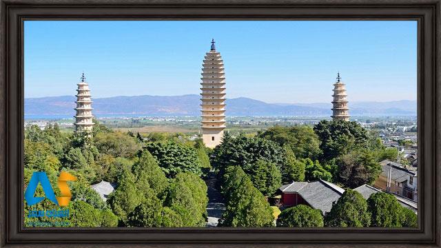 سه برج پاگودا در چین