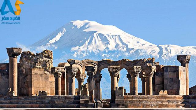 معبد زوارتنوس در ايروان ارمنستان